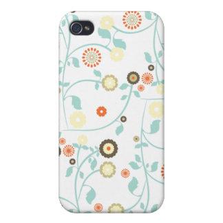 Frühlings-Blumen Blumenmuster girly rustikalen Chi iPhone 4 Schutzhüllen