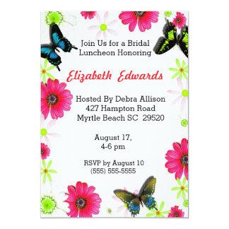 Frühlings-Blumen-Brautmittagessen-Einladung 12,7 X 17,8 Cm Einladungskarte