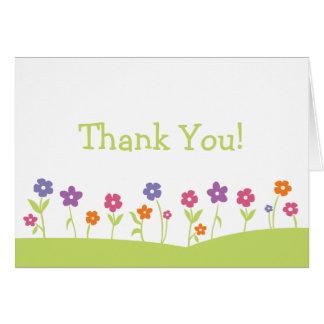 Frühlings-Blumen danken Ihnen zu kardieren Karte