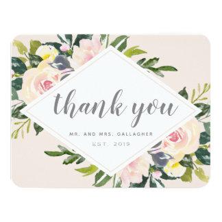 Frühlings-Blumen| flache Hochzeit danken Ihnen zu Karte