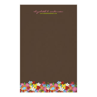 Frühlings-Blumen-Garten-kundenspezifisches Büropapiere