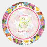 Frühlings-Blumen-Garten-wunderliche Gastgeschenke  Runder Sticker