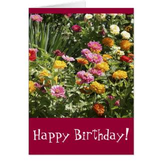 Frühlings-Blumen-Geburtstag Karte