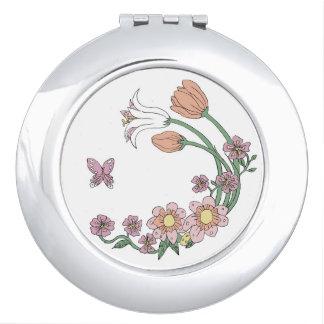 Frühlings-Blumen-kundengerechter Vertrag Schminkspiegel