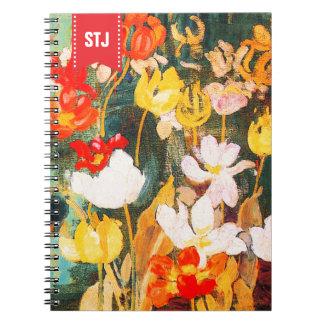 Frühlings-Blumen. Notizblock