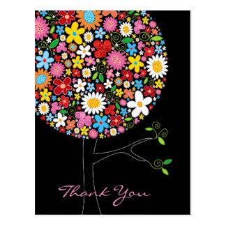 Frühlings-Blumen-Pop-Baum-Hochzeit danken Ihnen