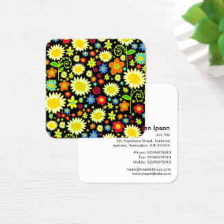 Frühlings-Blumen Quadratische Visitenkarte