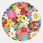 Frühlings-Blumen Save the Date/Geschenk-Aufkleber