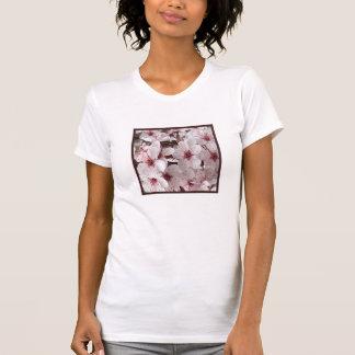 Frühlings-Blumen-Shirt 4 Ihr-Weiß/Burgunder/Grau T-Shirt