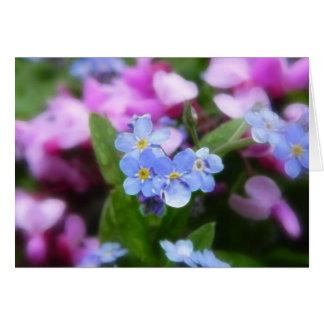 Frühlings-Blumen - Vergissmeinnichte und Redbuds Karte