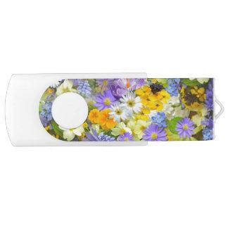 Frühlings-Blumen-Zertrümmern USB Stick
