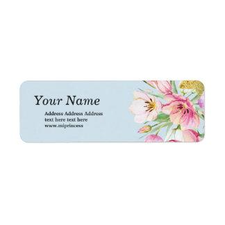 Frühlings-BlumenblumenRücksendeadresseaufkleber