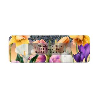 Frühlings-Blumenelegante Chic-Blau-mit