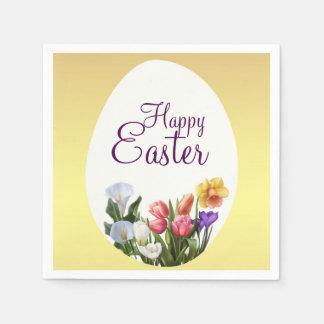 Frühlings-Blumenostern-Frühjahr-Blumen elegant Papierservietten