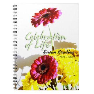 Frühlings-Blumenstrauß-Feier des Leben-Gast-Buches Notizblock