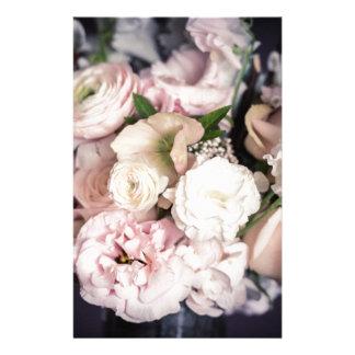 Frühlings-Blumenstrauß im Pastell Briefpapier