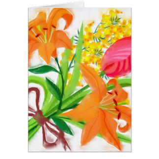 Frühlings-Blumenstrauß Mitteilungskarte