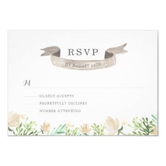 Frühlings-BlumenWappen-Hochzeit UAWG 8,9 X 12,7 Cm Einladungskarte