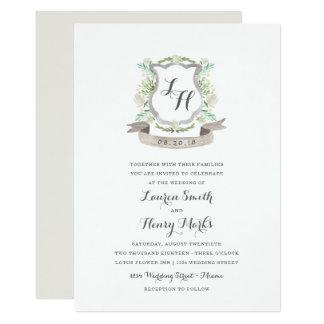 Frühlings-BlumenWappen-Hochzeits-Einladung Karte
