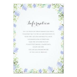 Frühlings-BlumenWappen-Hochzeits-Einsatz 11,4 X 15,9 Cm Einladungskarte