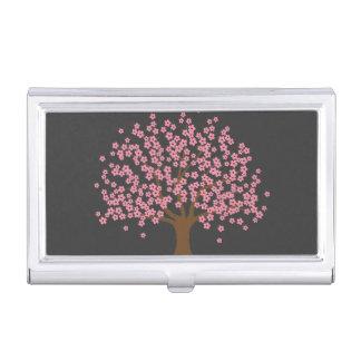 Frühlings-Blüten-Baum Visitenkarten Etui