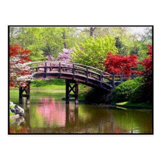 Frühlings-Brücke Postkarte