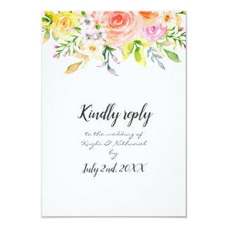 Frühlings-elegantes Kindly Antwort-Hochzeit MIT Karte