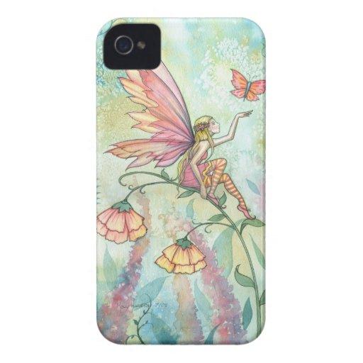 Frühlings-Fantasie-feenhafte Schmetterlings-Kunst Case-Mate iPhone 4 Hüllen