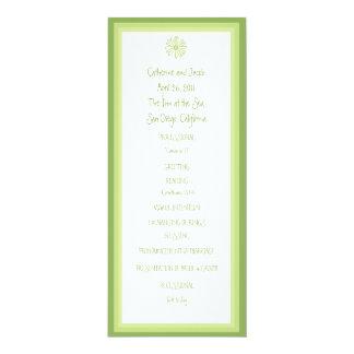 Frühlings-Gänseblümchen-Hochzeits-Programm 10,2 X 23,5 Cm Einladungskarte