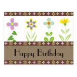 Frühlings-Garten-alles- Gute zum Geburtstagpostkar