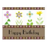 Frühlings-Garten-alles- Gute zum Geburtstagpostkar Postkarten