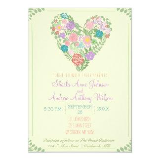 Frühlings-Garten-Blumen-Hochzeits-Einladung 12,7 X 17,8 Cm Einladungskarte