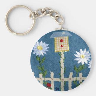 Frühlings-Garten Standard Runder Schlüsselanhänger
