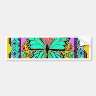 Frühlings-grüne Monarchfalter-Geschenke durch Autoaufkleber