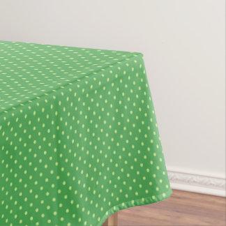 Frühlings-grüne Tupfen-Muster-Tischdecke Tischdecke