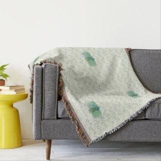 Frühlings-grüner Zickzack Druck mit Decke