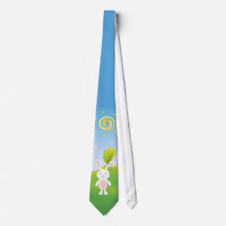 Frühlings-Häschen-glückliche Ostern-Krawatte Personalisierte Krawatten