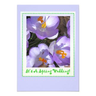 Frühlings-Hochzeit (Save the Date) 12,7 X 17,8 Cm Einladungskarte