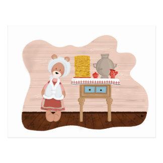 Frühlings-Karneval die Bärn-Familie Postkarte