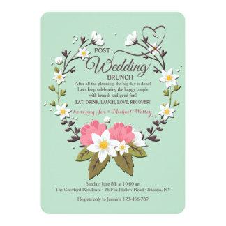 Frühlings-Kranz-Posten-Hochzeits-Brunch-Einladung 12,7 X 17,8 Cm Einladungskarte
