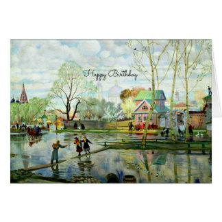 Frühlings-Landschaftsmalerei - alles Gute zum Karte