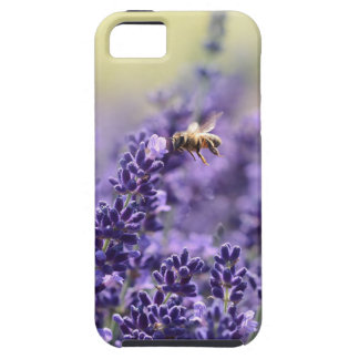 Frühlings-Lavendel mit Bienen-lila Blumen iPhone 5 Hülle