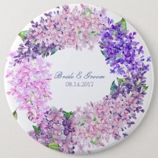 Frühlings-lila Blumen-Blüte-Blumenhochzeit Runder Button 15,3 Cm