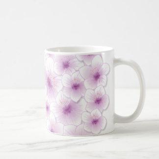 Frühlings-lila Kirschblüten-Blumen Kaffeetasse