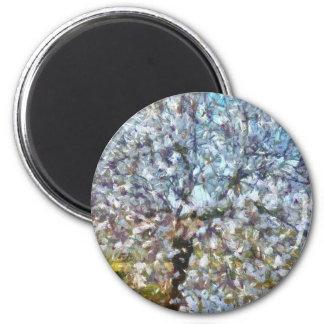 Frühlings-Mandel-Blüte Runder Magnet 5,7 Cm