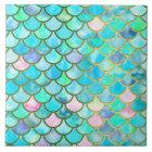 Frühlings-Meerjungfrau-Aquarell-Skalen Keramikfliese