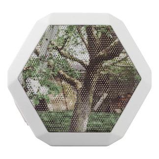 Frühlings-Obstgarten mit Leiter gegen Baum Weiße Bluetooth Lautsprecher
