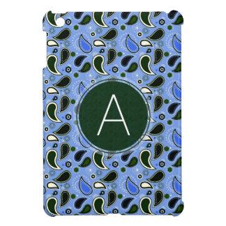 Frühlings-Paisley-Muster mit Monogramm iPad Mini Cover
