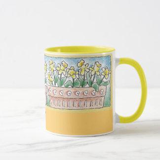 Frühlings-Pflanzen-Wecker-Tasse Tasse