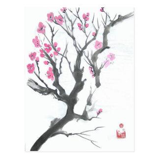 Frühlings-Pflaumen-Blüten-Niederlassungs-Postkarte Postkarte